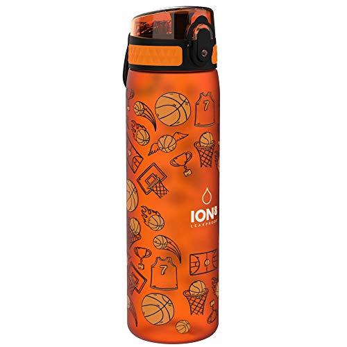 Ion8 Sottile, Borraccia Senza Perdite, Senza BPA Unisex, Multicolore (Pallacanestro), 500 ml