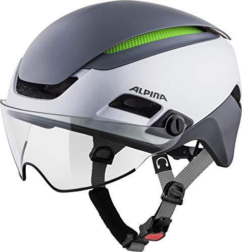 ALPINA ALTONA M Fahrradhelm, Unisex– Erwachsene, silver-darksilver, 57-62