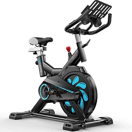 Stepper Professionale Cyclette Cyclette Cross Trainer Cyclette for la casa Tranquillo Indoor Cycling Cyclette Belt Driven avanzata volano Sedile Regolabile Spin Cyclette ZSMFCD (Color : Blue)