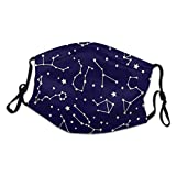 794 Star Chart Glow in The Dark Night Sky Astronomy Big Child Washable Dustproof and Breathable Facial Decoration