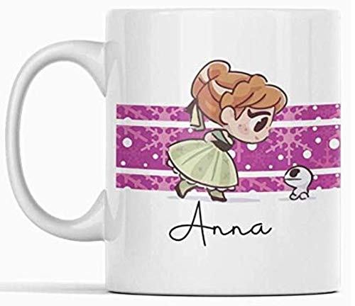 Clapper Taza Princesa Disney Frozen Anna. Taza Regalo Ceramica Divertido