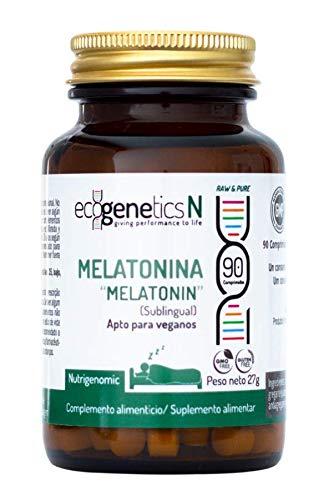Ecogenetics Melatonina Sublingual - 90 caps - Combate los trastornos del Sueño