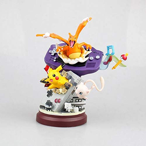 QTRT Pokemon Pikachu Charizard Mew Sammlung von Modell PVC Anime Cartoon Game Character Modell Statue Figur Spielzeug Collectibles Dekorationen Geschenke Lieblings von Anime-Fan