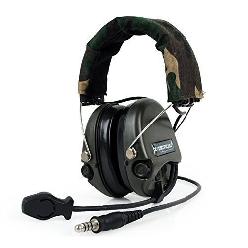 ATAIRSOFT Z-Tactical Z111 Sordin Style Noise Reduction Wargame Hunting Airsoft Radio Headset Headphone Indiana