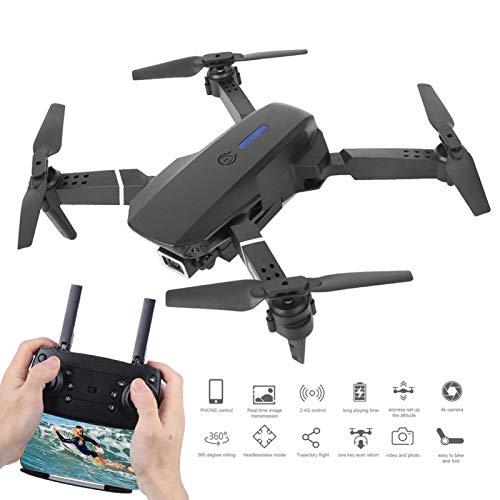 Emoshayoga Quadcopter de Alta definición Drone al Aire Libre Juguete Fiesta Familiar Vacaciones Principiantes y Regalo para niños(Black, 4k)