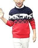 Kinder Weihnachtspullover Rentier Stern