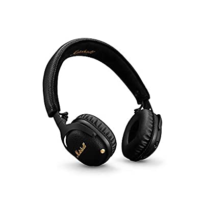 Marshall Mid Active Noise Cancelling (A.N.C.) Headphones with Bluetooth, Black from Zound Industries