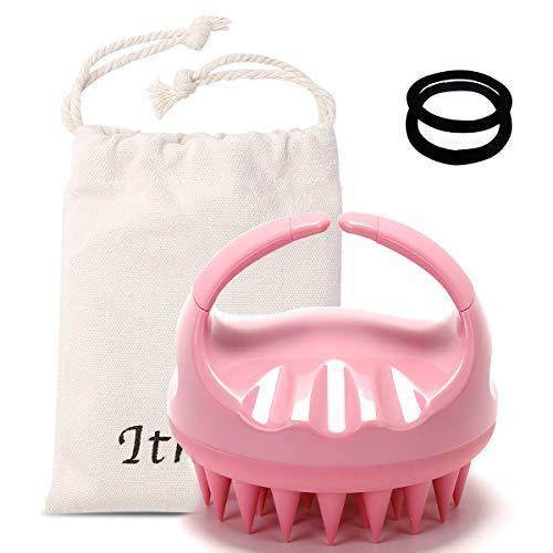 Ithyes Shampoo Bürste Silikon Kopfhaut Massagegerät Haarbürste Nass trocken Kamm Kopfwäscher [2020 Upgrade-Version]Haarbürste für Peeling, Healthy Head ohne Schuppen,Stimuliert das Haarwachstum (Rosa)