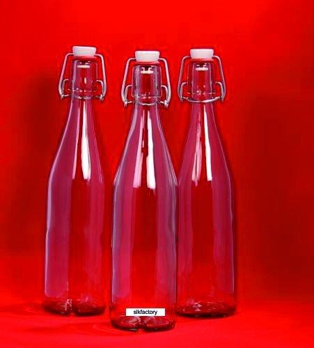 12 x 500 ml Bügelflasche Bügelverschlussflasche leere Glasflasche mit Bügelverschluss Weinflasche Schnapsflasche Glasflaschen Drahtbügelflasche Flasche mit Kippverschluss 0,5 Liter l von slkfactory