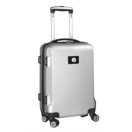 Denco NFL Pittsburgh Steelers Carry-On Hardcase Luggage Spinner, Silver