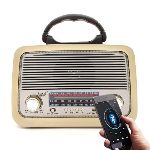 Rádio Retro A3199T Lanterna Bluetooth Fm Pendrive (Marrom Amarelado)