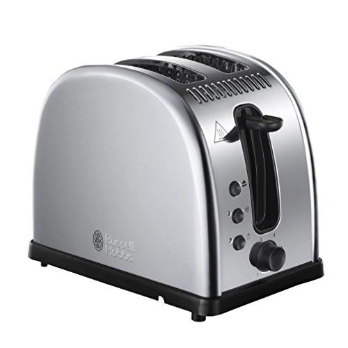Russell Hobbs 21290-56 Toaster Legacy, Schnell-Toast-Technologie, Brötchenaufsatz, 1300 Watt, Edelstahl