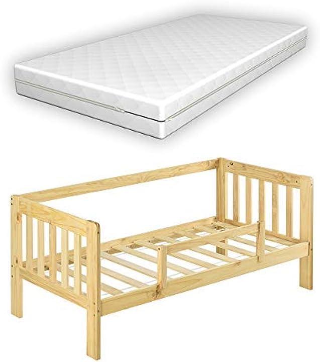 Letto per bambino con materasso a schiuma fredda 160x80 cm lettino in legno di pino [en.casa] B08JM95W1N