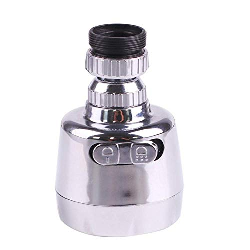 Kitchen Sink Faucet Spray Head 360_SwivelRip -Out Spray Head Replacement Part Deluxe Inter Thread Nozzle Filter Adapter Water Saving Tap Bubbler Connector Aerator
