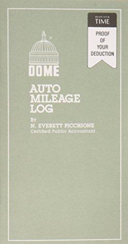 Dome(R) Auto Mileage Log, Card Stock Cover, 3 1/4in. x 6 1/4in., Gray