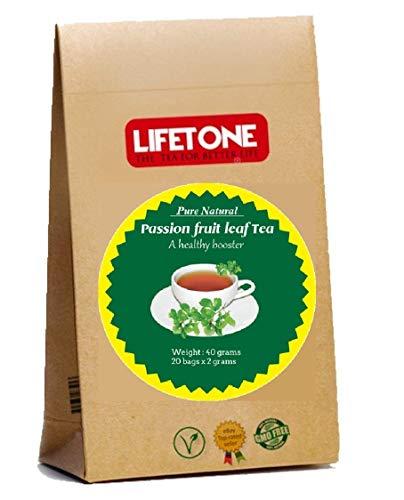 Té de hoja de maracuyá, calmante para el estrés, deliciosas 20 bolsitas de té envueltas individualmente