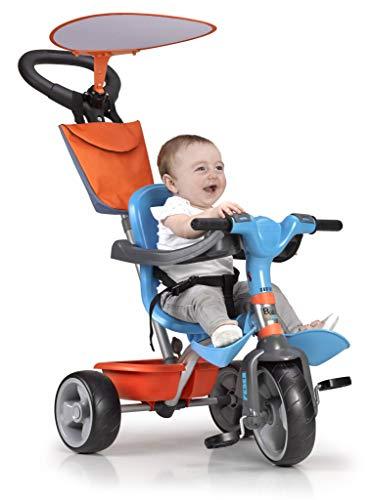 Feber- Baby Plus Music Triciclo, Colore Azzurro/Arancione, 800012100