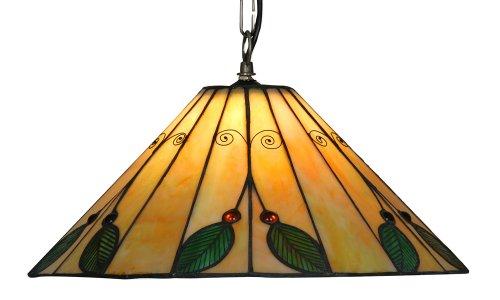 Oaks Lighting Leaf Suspension Style Tiffany 40 cm