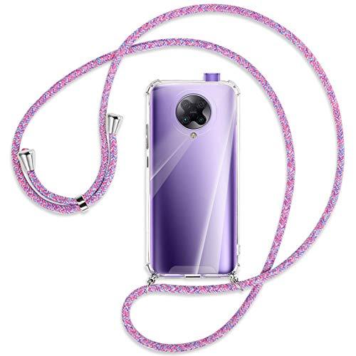 mtb more energy® Collar Smartphone para Xiaomi Poco F2 Pro, Redmi K30 Pro, K30 Ultra (6.67'') - Unicornio Morado - Funda Carcasa Anti Shock con Correa para Hombro