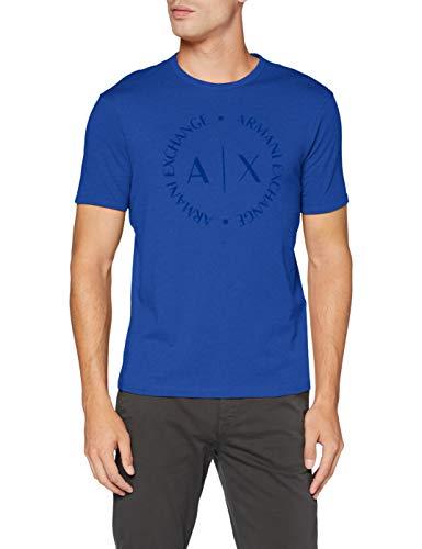Armani Exchange 8nztcd Camiseta, Azul (Marine (Surf The Web 1506), X-Large para Hombre