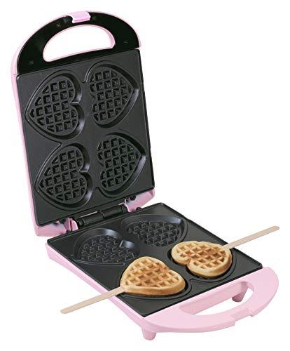 Bestron DSW271P Macchina per Waffle, 780 W, Plastica, Rosa
