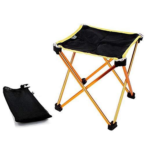 BJH Silla de Camping Taburete de Camping Plegable portátil Silla Taburete Ligero para Exterior Silla Mobiliario de Camping para Senderismo Pesca con Bolsa de Transporte para Picnic de Pesca