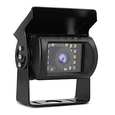 Car Backup Camera System Kit, Rear View Camera Kit HD Rear View Reversing Camera with 24 LED Lights IP66 Waterproof Infrared Night Vision