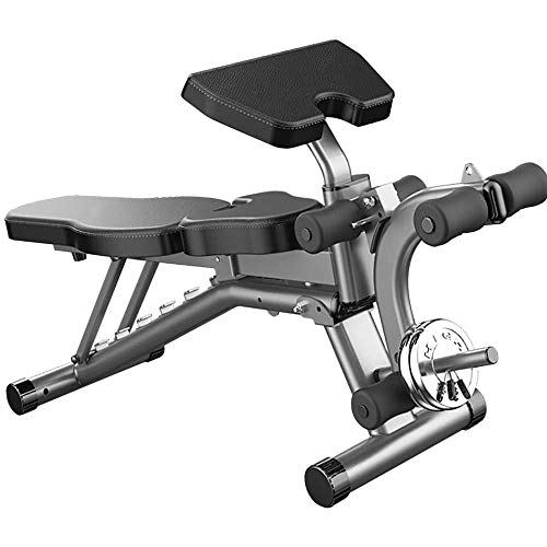 Laberry Strength Training Benches Folding Dumbbell Bench, Multifunction Sit-up Fitness Equipment, Four in One Adjustable Home Supine Board for Whole Body Training Men and Women General Purpose