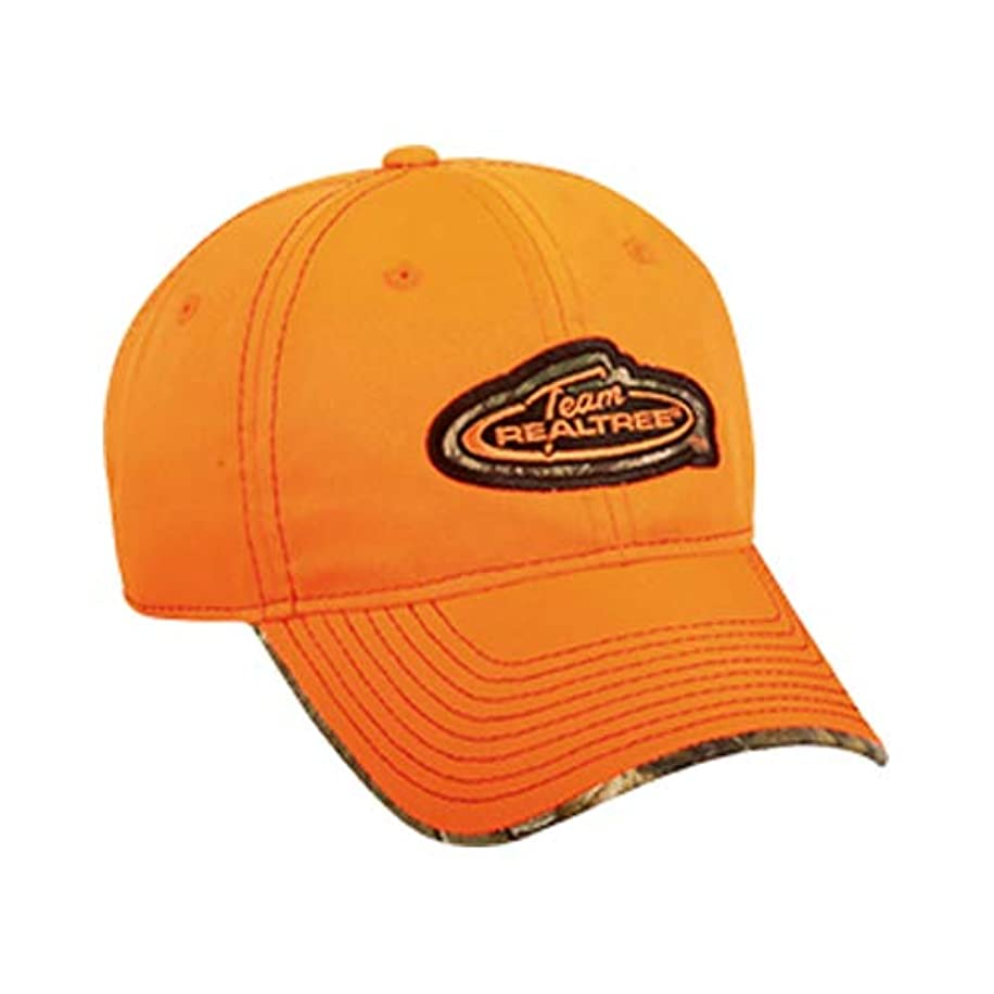 Team REALTREE Authentic Blaze Orange Hat w Realtree Edge Accents