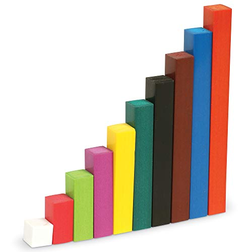 Learning Resources- Set de introducción Cuisenaire con regletas de Madera, Color (LER7501)