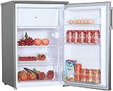 MF KSM9118A2IX Kühlschrank mit Gefrierfach 118 Liter, A++, Freistehend, 85 cm höhe, Kühlen 103 Liter, 4-Sterne Gefrierfach 15 L, Automatische Abtauung, LED Licht, sehr niedriger Energieverbrauch, INOX