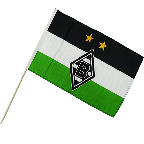 Unbekannt VFL Borussia Mönchengladbach Herren Borussia Mönchengladbach-Fohlenelf-Artikel-Stockfahne Raute-60 x 40 cm Flagge, Mehrfarbig