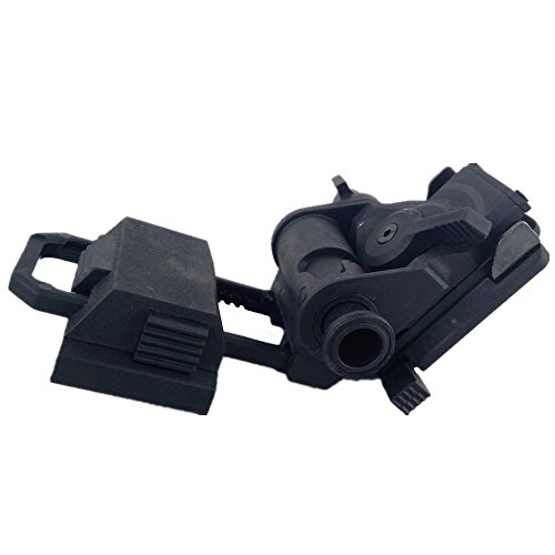 loglife Tactical Helmet Parts L4G24 NVG Mount 100% Plastic for PVS-15 PVS18 GPNVG18 Night Vision Cosplay No Function Black DE (Black)