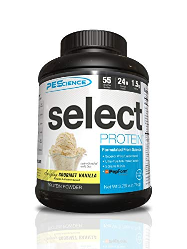 PEScience Select Low Carb Protein Powder, Gourmet Vanilla, 55 Serving, Keto Friendly and Gluten Free