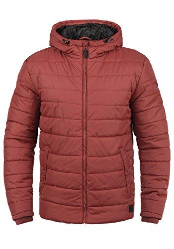 Blend Nilson Herren Steppjacke Übergangsjacke Jacke mit Kapuze, Größe:L, Farbe:Rust Red (73830)