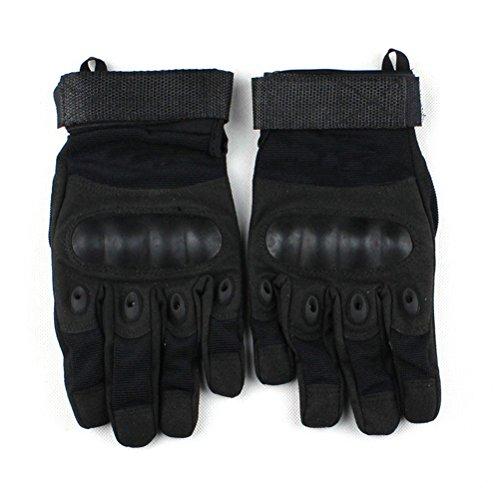Contever® Noir Anti-dérapant Gants pour Sport Fitness Vélo Pêche Randonnée Chasse (Taille M ~ XL)