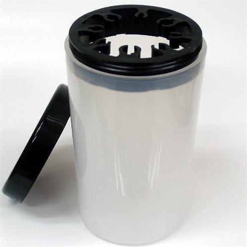 Recipiente para pinceles - Vaso para la limpieza de pinceles - Color blanco - con tapón - Blucc Style