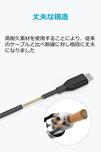 Anker Powerline Micro USB Kabel [2-Pack] 1,8m - Langlebiges Ladekabel mit Aramidfasern und 10000+ Biegungen für Galaxy, Nexus, LG, Motorola, Android Handys und weitere (Schwarz)