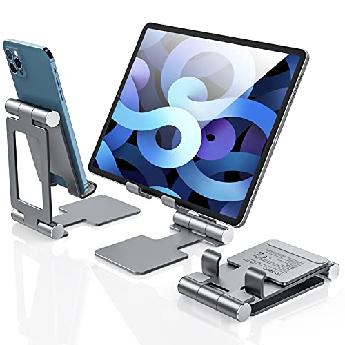 yoozon Supporto Tablet, Supporto iPad Tavolo, per iPadPro 11 10.2 10.5 12.9 9.7, iPad Air 2 3 4, iPad Mini 2 3 4, Samsung Tab,Huawei,Kindle,Switch,Lenovo, iPhone 12 11 X 8, Xiaomi Redmi Note,Poco F3