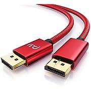 CSL - 8k DisplayPort Kabel 2m - Displayport auf Displayport - DP 1.4-7680 x 4320 60Hz - 3840 x 2160 120Hz - 1920 x 1200 240Hz - Bandbreite von bis zu 32,4 Gbit s - HBR3, DSC 1.2, HDR 10 - rot