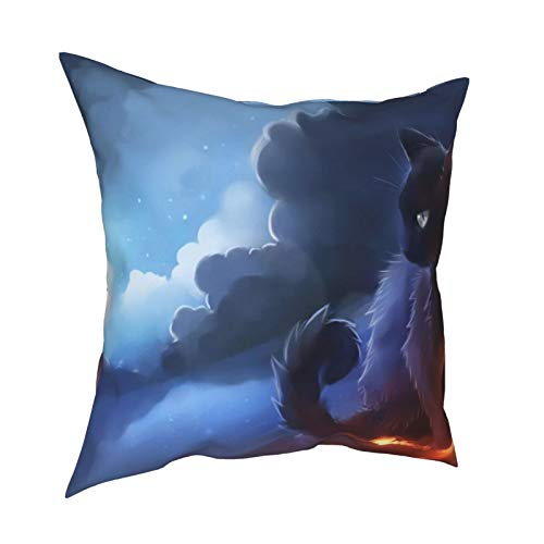Fundas de almohada de Cat Warrior de 45 x 45 cm – impresión de doble cara, fundas de almohada cuadradas decorativas para sofá, cama, coche