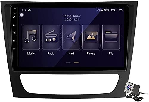 WYZXR GPS Car Stereo Android 9.0 Radio para Mercedes Benz Clase E C219 2005-2009 Navegación GPS Pantalla táctil de 9 Pulgadas Unidad Principal Reproductor Multimedia Video con 4G WiFi DSP Carplay