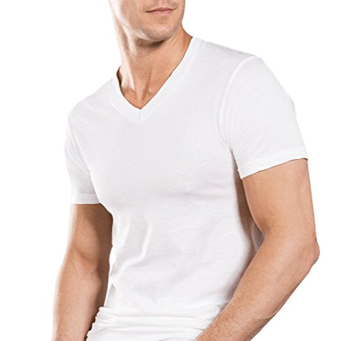 Stafford Mens Tall/Extra Tall Blended Cotton, White, Size Large/Extra Tall