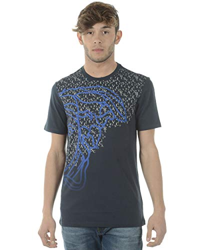 Versace Collection - T-Shirt Uomo V800683SVJ00353 Blu S