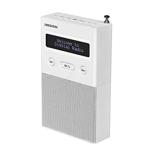 MEDION P65715 DAB+ Steckdosenradio mit Bluetooth, 20 Watt, 30 Senderspeicher, DAB+/PLL UKW, Schlummer/Snooze, weiß