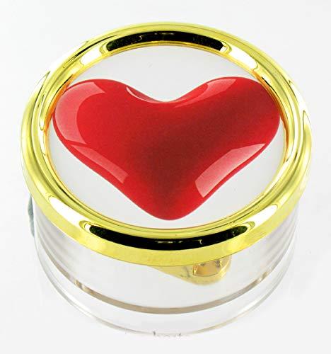 Lutèce Créations Boîte à Musique Presse-papiers de la Saint-Valentin en plexiglas avec Photo (Réf: PL.18.05) - Une Histoire d'amour - Love Story (Francis Lai)