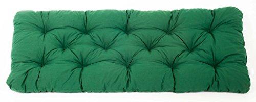 Ambientehome 90363-2er Banco Banco Banco de cojín Amortiguador Verde 120 cm gartenbank