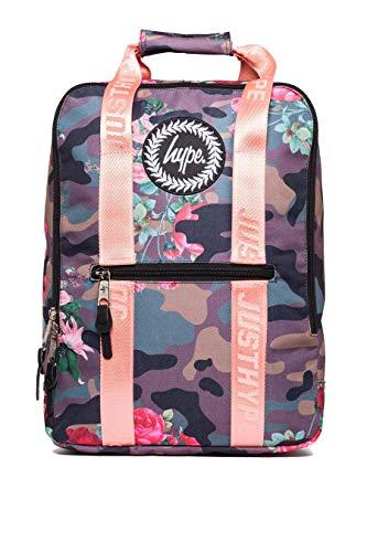 HYPE - Flower Camo Box Bag, Mochilas Unisex adulto, Multicolor (Khaki), 30x41x15 cm (W x H L)