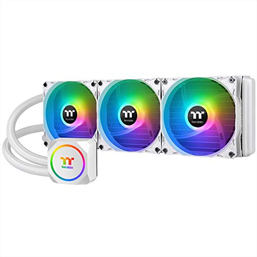 Thermaltake TH360 ARGB Snow Edition AMD/Intel LGA1200 Ready All-in-One Liquid Cooling System 360mm High Efficiency Radiator CPU Cooler CL-W302-PL12SW-A