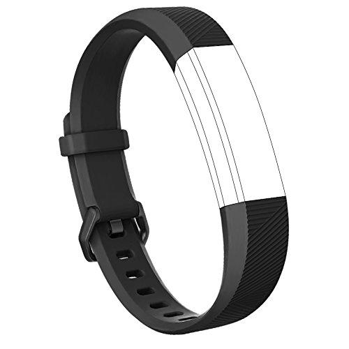 Vancle バンド for Fitbit Alta HR/Fitbit Alta 交換バンド ベルト 快適な穴留め式バンド for Fitbit Alta 2016/ Fitbit Alta HR 2017 (新しい黒い, Large)